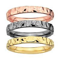 Stacks & Stones Hammered Stack Ring