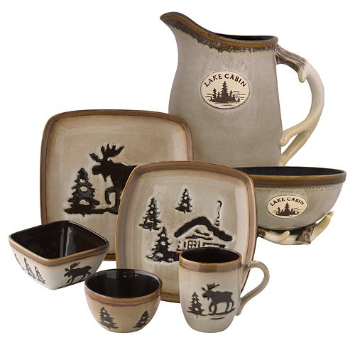 Home Studio Woodland Dinnerware Cream