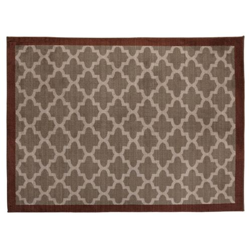 SPACES Home & Beyond by Welspun Brown Trellis Rug