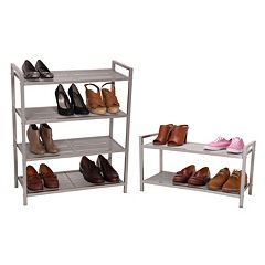 Household Essentials Tiered Mesh Shoe Rack Collection