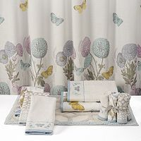 One Home Brand Enchanted Garden Printed Shower Curtain Collection