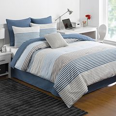 IZOD Chambray Stripe Comforter Collection