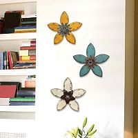 Stratton Home Decor Antiqued Flower Wall Decor Collection