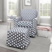 Storkcraft Polka-Dot Upholstered Nursery Furniture Coordinates