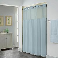 Hookless Shiny Herringbone Lined Shower Curtain Collection