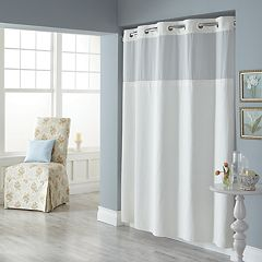 Dobby Pique Mystery Hookless Fabric Shower Curtain Collection