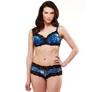 Women's Dolce Vita Lace Trim Full-Figure Demi Bra & Panties