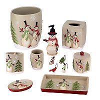 Avanti Snowman Bathroom Accessories Collection