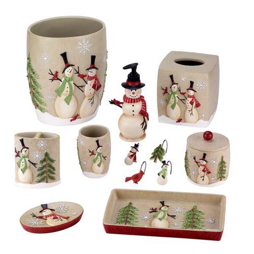 snowman bathroom accessories collection
