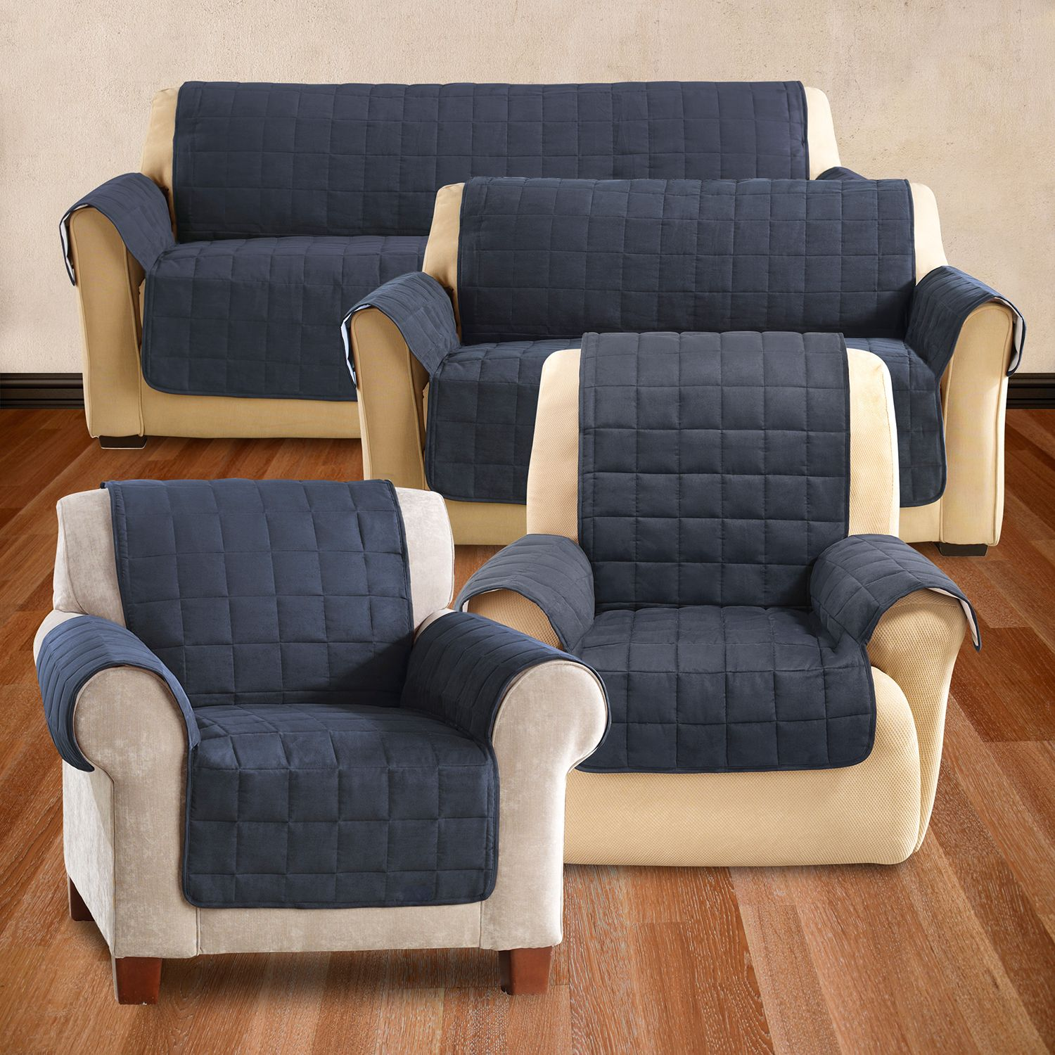 sure fit ultimate waterproof suede furniture cover collection