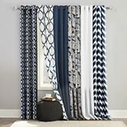 The Big One® Decorative 2-pack Navy Window Curtain Collection