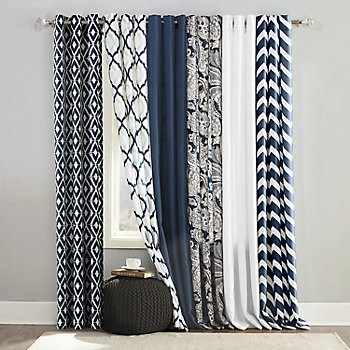 The Big One® Brandon Navy Window Treatments