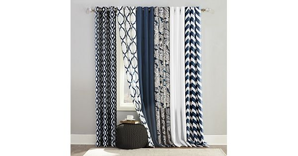 The big one navy window treatments for Curtains and drapes nyc