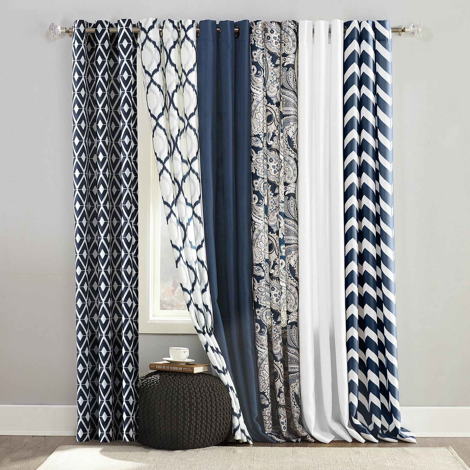 the big one navy window treatments