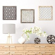 Stratton Home Decor Distressed Laser-Cut Geometric Wall Decor