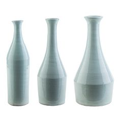Decor 140 Achid Seafoam Blue Vase Collection