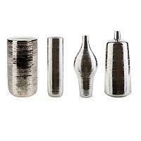 Decor 140 Rilchei Pewter Finish Vase Collection
