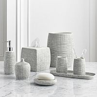 Kassatex Raffia Bathroom Accessory Collection