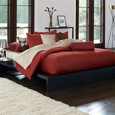 Simply Vera Wang Persimmon Queen 4 Piece Comforter Set Ebay