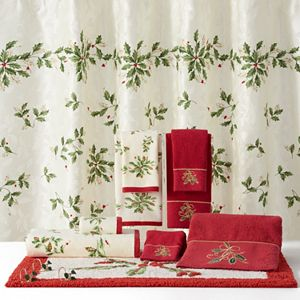 Lenox Holiday Shower Curtain Collection