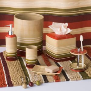 Madison Striped Bathroom Accessories Collection
