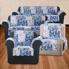 Sure Fit Heirloom Bluebell Floral Furniture Cover Collection