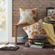 Madison Park Autumn Embroidered Throw Pillow Collection