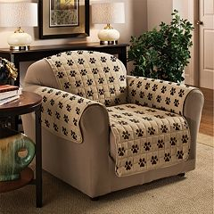 Innovative Textile Solutions Paw Prints Microfiber Furniture Cover Collection