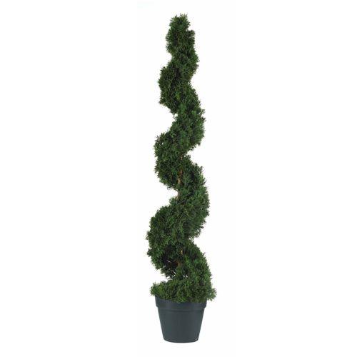 nearly natural Silk Cedar Spiral Trees