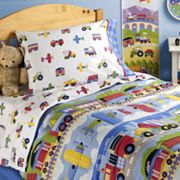 Olive Kids Trains, Planes and Trucks Toddler Bedding Coordinates