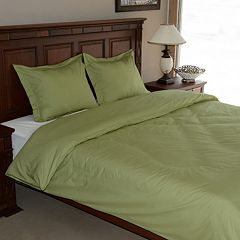 Egyptian Cotton Percale 3 pc Duvet Cover Set