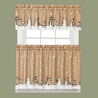 Saturday Knight, Ltd. Aspen Holiday Snowman Kitchen Curtain Collection
