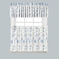 Saturday Knight, Ltd. Snow Flurries ​Snowflake ​Kitchen Curtain​ Collection​
