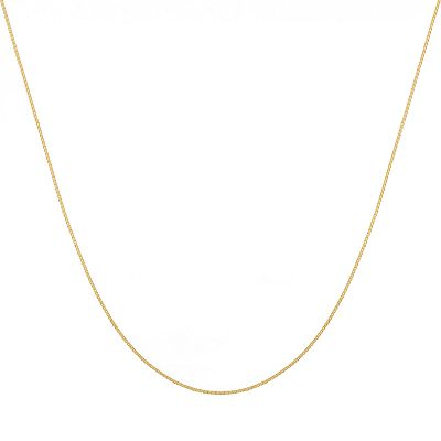 14k Gold Venetian Box Chain Necklace