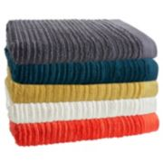 Loft by Loftex Cascading Solid Bath Towel Collection