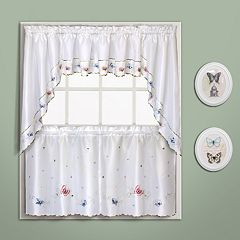 United Curtain Co. Butterfly Swag Tier Kitchen Window Curtains