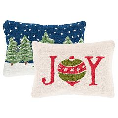 Decor 140 Holiday Hooked Oblong Throw Pillow Collection