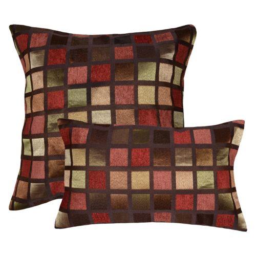 home decor windowpane geometric throw pillow collection