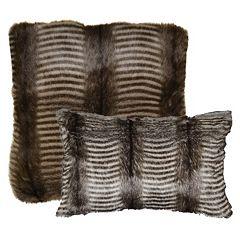 Spencer Home Decor Badger Faux Fur Throw Pillow Collection