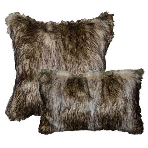 home decor richmond faux fur throw pillow collection