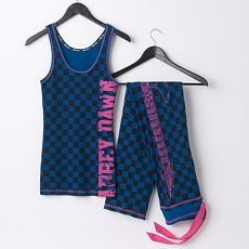 Abbey Dawn Checkered Pajama Separates