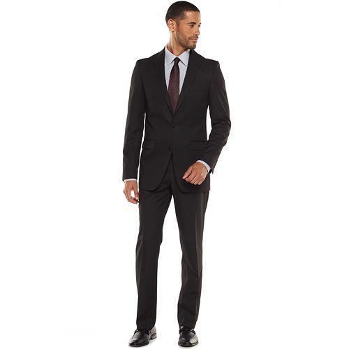 Apt. 9 Extra-Slim Black Suit Separates - Men