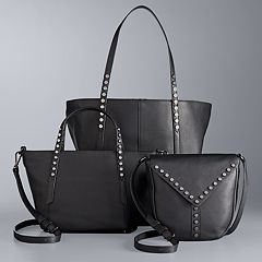 Simply Vera Vera Wang Studded Leather Handbag Collection