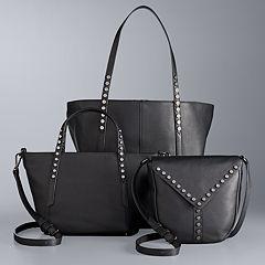 Simply Vera Vera Wang Studded Leather Handbag Collection