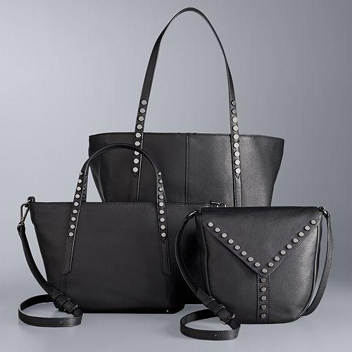 e3ff221eb7 Simply Vera Vera Wang Studded Leather Handbag Collection