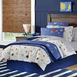 Lullaby Bedding Space Cotton Percale Duvet Cover Collection