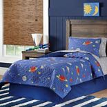 Lullaby Bedding Space Cotton Percale Quilt Collection