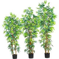nearly natural Silk Fancy Bamboo Trees