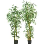 nearly natural Silk Fancy Slim Bamboo Trees
