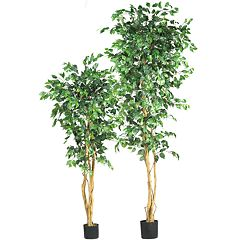 nearly natural Silk Ficus Trees